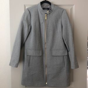 Gray jacket with gold detail